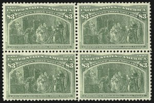 Sale Number 1092, Lot Number 1188, 1893 Columbian Issue (Scott 230-245)$3.00 Columbian (243), $3.00 Columbian (243)
