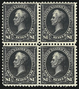 Sale Number 1092, Lot Number 1211, 1894-1903 Bureau Issues (Scott 246-284)$1.00 Black, Ty. I-II (276-276A), $1.00 Black, Ty. I-II (276-276A)