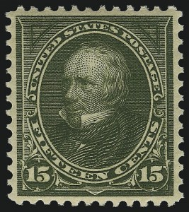 Sale Number 1092, Lot Number 1227, 1894-1903 Bureau Issues (Scott 246-284)15c Olive Green (284), 15c Olive Green (284)
