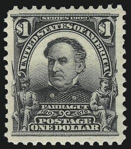 Sale Number 1092, Lot Number 1263, 1902-08 Bureau, Louisiana Purchase and Jamestown Issues (Scott 300-330)$1.00 Black (311), $1.00 Black (311)
