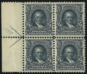 Sale Number 1092, Lot Number 1270, 1902-08 Bureau, Louisiana Purchase and Jamestown Issues (Scott 300-330)$5.00 Dark Green (313), $5.00 Dark Green (313)