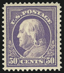 Sale Number 1092, Lot Number 1308, 1913-15 Panama-Pacific thru 1912-15 Issues (Scott 397-461)50c Violet (422), 50c Violet (422)