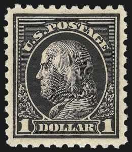 Sale Number 1092, Lot Number 1330, 1913-15 Panama-Pacific thru 1912-15 Issues (Scott 397-461)$1.00 Violet Black (460), $1.00 Violet Black (460)