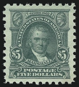 Sale Number 1092, Lot Number 1345, 1916-20 Issues (Scott 462-550)$5.00 Light Green (480), $5.00 Light Green (480)