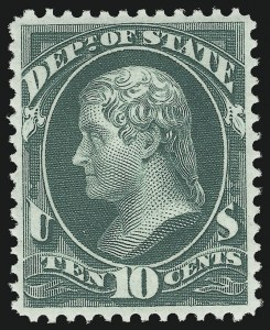 Sale Number 1092, Lot Number 1461, Officials10c State (O62), 10c State (O62)