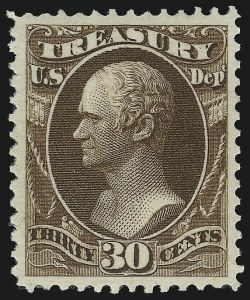 Sale Number 1092, Lot Number 1466, Officials30c Treasury (O81), 30c Treasury (O81)