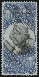 Sale Number 1092, Lot Number 1509, Revenues$1.30 Blue & Black, Second Issue (R119), $1.30 Blue & Black, Second Issue (R119)
