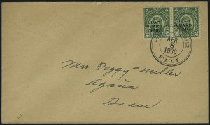 Sale Number 1092, Lot Number 1556,  U.S. Possessions1930, 2c Green, Guard Mail (M1), 1930, 2c Green, Guard Mail (M1)