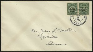 Sale Number 1092, Lot Number 1557,  U.S. Possessions1930, 2c Green, Guard Mail (M1), 1930, 2c Green, Guard Mail (M1)