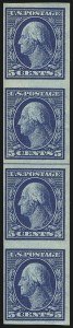 Sale Number 1093, Lot Number 106, 1908-10 Washington-Franklin Imperfs and Imperf Coils (Scott 343-347V)5c Blue, Vertical Imperforate Coil (347V), 5c Blue, Vertical Imperforate Coil (347V)