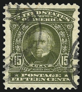 Sale Number 1093, Lot Number 21, 1902-03 Issue (Scott 300-313)15c Olive Green (309), 15c Olive Green (309)