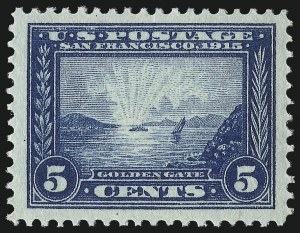 Sale Number 1093, Lot Number 235, 1913-15 Panama-Pacific Issue (Scott 397-404)5c Panama-Pacific (399), 5c Panama-Pacific (399)
