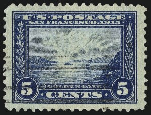 Sale Number 1093, Lot Number 238, 1913-15 Panama-Pacific Issue (Scott 397-404)5c Panama-Pacific (399), 5c Panama-Pacific (399)