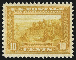 Sale Number 1093, Lot Number 239, 1913-15 Panama-Pacific Issue (Scott 397-404)10c Orange Yellow, Panama-Pacific (400), 10c Orange Yellow, Panama-Pacific (400)