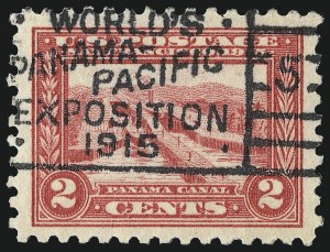 Sale Number 1093, Lot Number 246, 1913-15 Panama-Pacific Issue (Scott 397-404)2c Panama-Pacific, Perf 10 (402), 2c Panama-Pacific, Perf 10 (402)