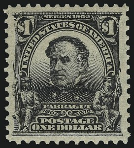Sale Number 1093, Lot Number 26, 1902-03 Issue (Scott 300-313)$1.00 Black (311), $1.00 Black (311)