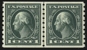 Sale Number 1093, Lot Number 261, 1912-14 Issue (Scott 405-423)1c Green, Coil (412), 1c Green, Coil (412)