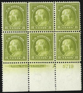 Sale Number 1093, Lot Number 265, 1912-14 Issue (Scott 405-423)8c Pale Olive Green (414), 8c Pale Olive Green (414)