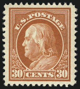 Sale Number 1093, Lot Number 274, 1912-14 Issue (Scott 405-423)30c Orange Red (420), 30c Orange Red (420)