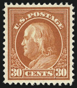 Sale Number 1093, Lot Number 275, 1912-14 Issue (Scott 405-423)30c Orange Red (420), 30c Orange Red (420)