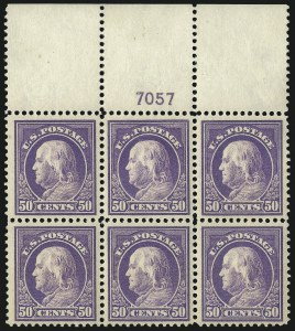 Sale Number 1093, Lot Number 279, 1912-14 Issue (Scott 405-423)50c Violet (421), 50c Violet (421)