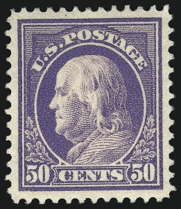 Sale Number 1093, Lot Number 282, 1912-14 Issue (Scott 405-423)50c Violet (422), 50c Violet (422)