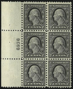 Sale Number 1093, Lot Number 300, 1913-15 Issue (Scott 424-440)7c Black (430), 7c Black (430)