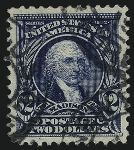 Sale Number 1093, Lot Number 33, 1902-03 Issue (Scott 300-313)$2.00 Dark Blue (312), $2.00 Dark Blue (312)
