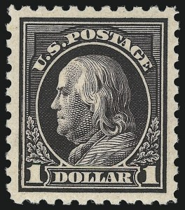 Sale Number 1093, Lot Number 373, 1915-17 Issues (Scott 460-474)$1.00 Violet Black (460), $1.00 Violet Black (460)