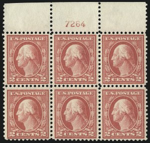 Sale Number 1093, Lot Number 378, 1915-17 Issues (Scott 460-474)2c Pale Carmine Red, Ty. I (461), 2c Pale Carmine Red, Ty. I (461)