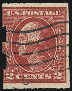 Sale Number 1093, Lot Number 420, 1915-17 Issues, cont. (Scott 475-482A)2c Deep Rose, Ty. Ia, Imperforate, Schermack Ty. III Private Perforation (482A), 2c Deep Rose, Ty. Ia, Imperforate, Schermack Ty. III Private Perforation (482A)
