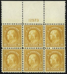 Sale Number 1093, Lot Number 456, 1917-19 Issue (Scott 498-518)10c Orange Yellow (510), 10c Orange Yellow (510)