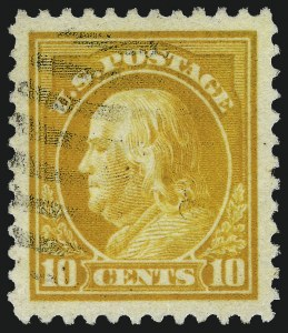Sale Number 1093, Lot Number 457, 1917-19 Issue (Scott 498-518)10c Orange Yellow (510), 10c Orange Yellow (510)