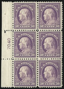 Sale Number 1093, Lot Number 465, 1917-19 Issue (Scott 498-518)50c Red Violet (517), 50c Red Violet (517)