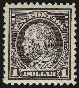 Sale Number 1093, Lot Number 466, 1917-19 Issue (Scott 498-518)$1.00 Violet Brown (518), $1.00 Violet Brown (518)