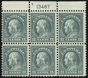 Sale Number 1093, Lot Number 476, 1917-19 Perf 10 on One Side Varieties (Scott 506a-512b)11c Light Green, Perf 10 at Bottom (511a), 11c Light Green, Perf 10 at Bottom (511a)