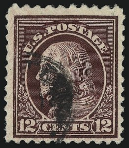 Sale Number 1093, Lot Number 479, 1917-19 Perf 10 on One Side Varieties (Scott 506a-512b)12c Claret Brown, Perf 10 at Top (512b), 12c Claret Brown, Perf 10 at Top (512b)