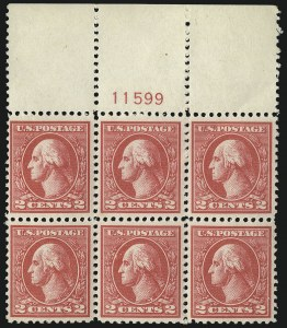 Sale Number 1093, Lot Number 491, 1918-21 Offset, Rotary and Bi-Colored Issues (Scott 525-547)2c Carmine, Ty. VI (528A), 2c Carmine, Ty. VI (528A)
