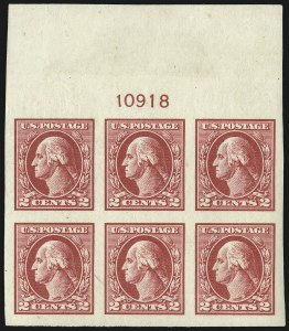 Sale Number 1093, Lot Number 492, 1918-21 Offset, Rotary and Bi-Colored Issues (Scott 525-547)2c Carmine Rose, Ty. IV, Imperforate (532), 2c Carmine Rose, Ty. IV, Imperforate (532)