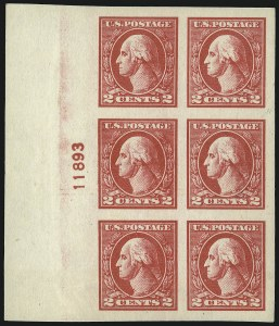 Sale Number 1093, Lot Number 494, 1918-21 Offset, Rotary and Bi-Colored Issues (Scott 525-547)2c Carmine, Ty. V, Imperforate (533), 2c Carmine, Ty. V, Imperforate (533)