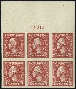 Sale Number 1093, Lot Number 497, 1918-21 Offset, Rotary and Bi-Colored Issues (Scott 525-547)2c Carmine, Ty. VI, Imperforate (534A), 2c Carmine, Ty. VI, Imperforate (534A)