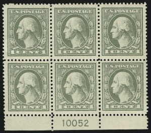 Sale Number 1093, Lot Number 503, 1918-21 Offset, Rotary and Bi-Colored Issues (Scott 525-547)1c Gray Green (536), 1c Gray Green (536)