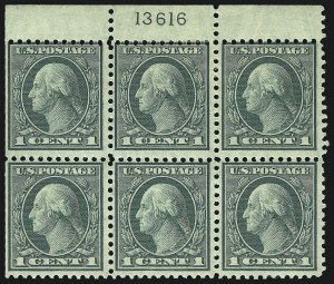 Sale Number 1093, Lot Number 512, 1918-21 Offset, Rotary and Bi-Colored Issues (Scott 525-547)1c Green, Rotary (545), 1c Green, Rotary (545)