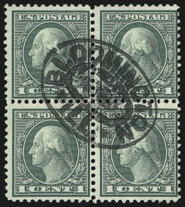 Sale Number 1093, Lot Number 513, 1918-21 Offset, Rotary and Bi-Colored Issues (Scott 525-547)1c Green, Rotary (545), 1c Green, Rotary (545)