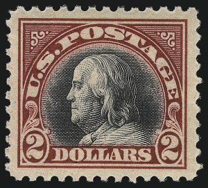 Sale Number 1093, Lot Number 518, 1918-21 Offset, Rotary and Bi-Colored Issues (Scott 525-547)$2.00 Carmine & Black (547), $2.00 Carmine & Black (547)