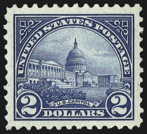 Sale Number 1093, Lot Number 535, 1922-25 Issue (Scott 551-573)$2.00 Deep Blue (572), $2.00 Deep Blue (572)