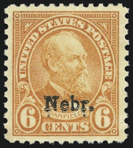Sale Number 1093, Lot Number 570, 1923 and Later Issues (Scott 578-834a)6c Nebr. Ovpt. (675), 6c Nebr. Ovpt. (675)