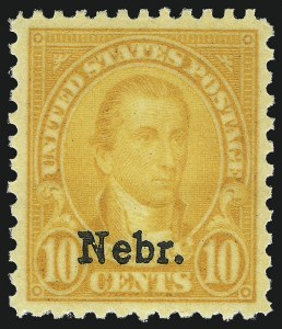 Sale Number 1093, Lot Number 572, 1923 and Later Issues (Scott 578-834a)10c Nebr. Ovpt. (679), 10c Nebr. Ovpt. (679)