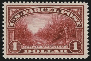 Sale Number 1094, Lot Number 295, Parcel Post (Scott Q1-Q12)$1.00 Parcel Post (Q12), $1.00 Parcel Post (Q12)