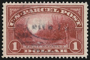 Sale Number 1094, Lot Number 297, Parcel Post (Scott Q1-Q12)$1.00 Parcel Post (Q12), $1.00 Parcel Post (Q12)